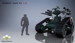 robot war 3D model