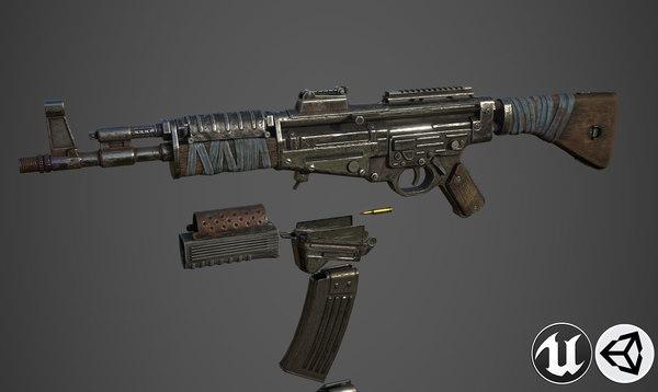 3D model weapon gun rifle