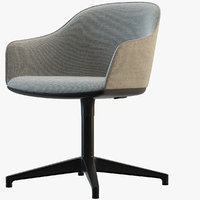 softshell chair vitra 3D