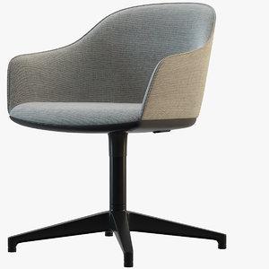 softshell chair vitra 3D