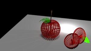 3D apple fruit model