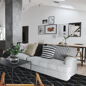 3D realistic scandinavian interior model
