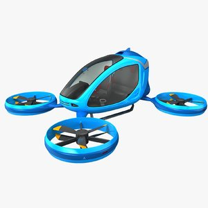 3D model electric passenger drone general