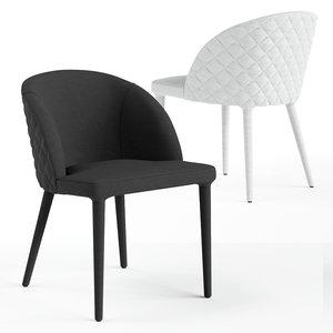 3D castlery anabelle chair model