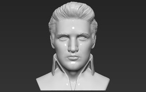 3D elvis presley bust ready model