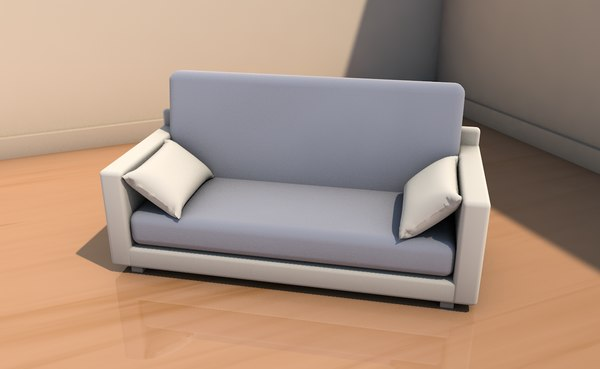 3D model sofa cushions