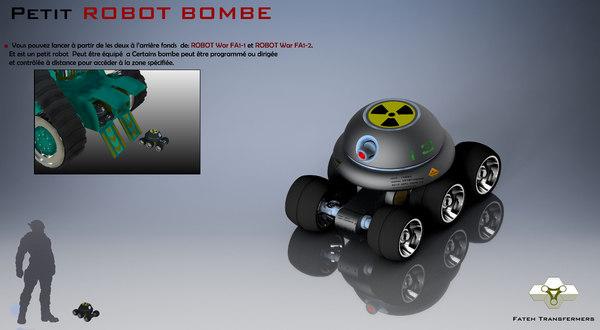 petit robot bombe 3D model