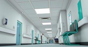 hospital hallway 3D