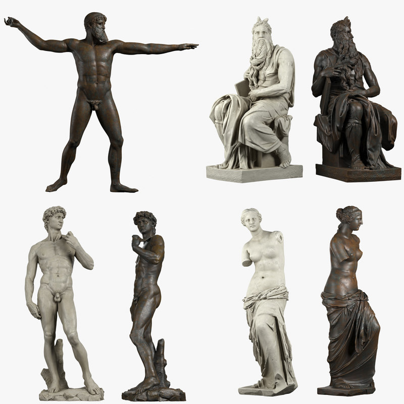 3D iconic sculptures model