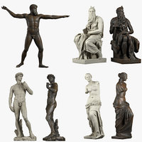3D iconic sculptures model