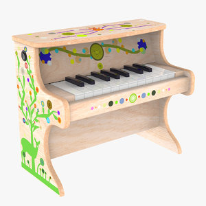 small electronic piano kids 3D