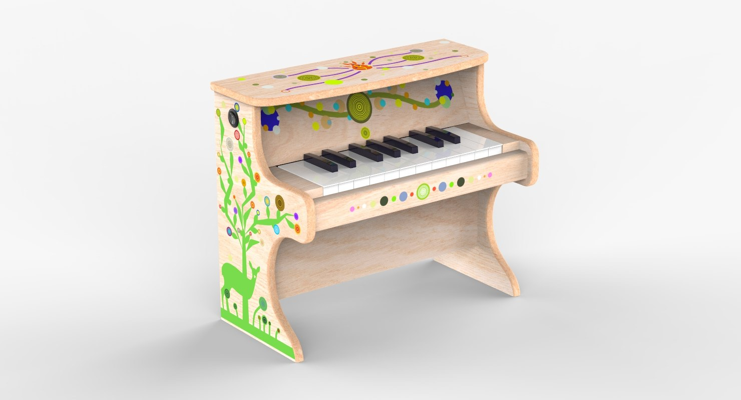 small electronic piano kids 3D