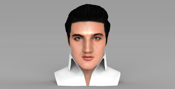 elvis presley bust ready 3D model