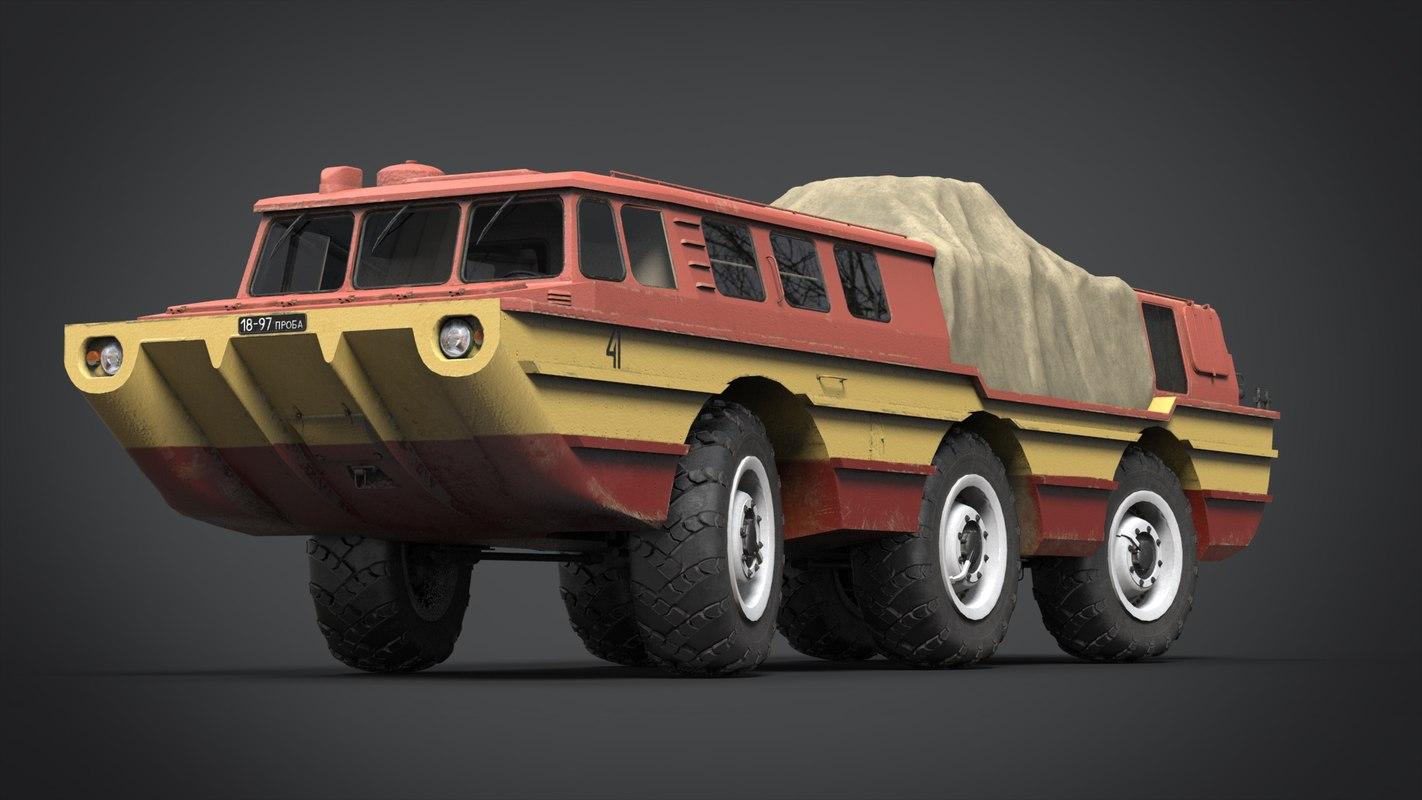 3D soviet vehicle 2 model
