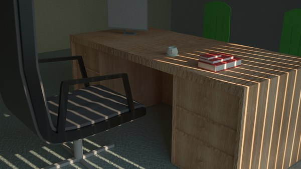 3D table boss chair model