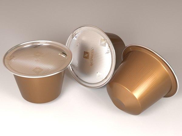 3D nespresso coffee capsules