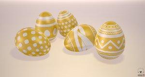 pack easter eggs 3D model