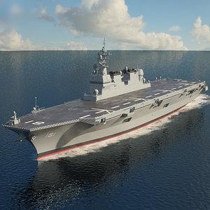 3D model hyuga-class hyuga class