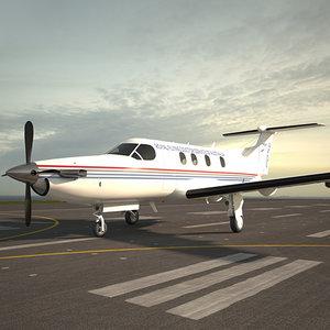3D model pilatus pc-12 pc