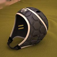 3D ram rugby helmet
