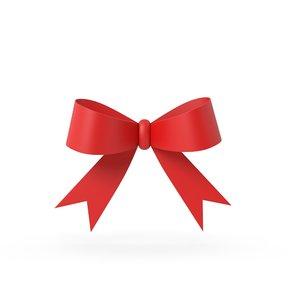 gift ribbon red 3D model