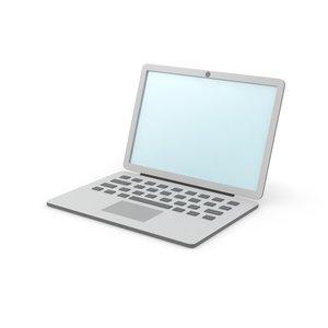 simple laptop clean 3D