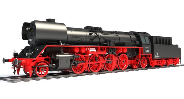 steam locomotive class 41 3D model
