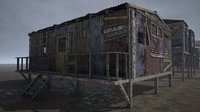 3D model pbr modular post-apocalyptic buildings