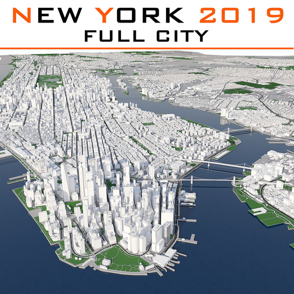 3d model new york cityscape