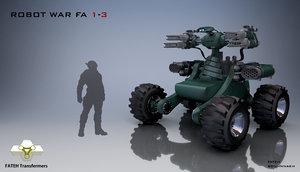 3D model robot war fa 1-3
