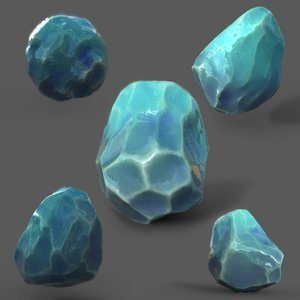 3D pack fantasy crystals pbr model