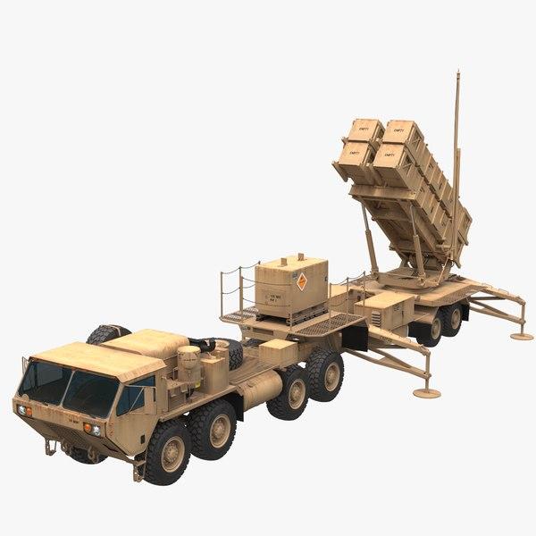 3D patriot mim-104 missile model