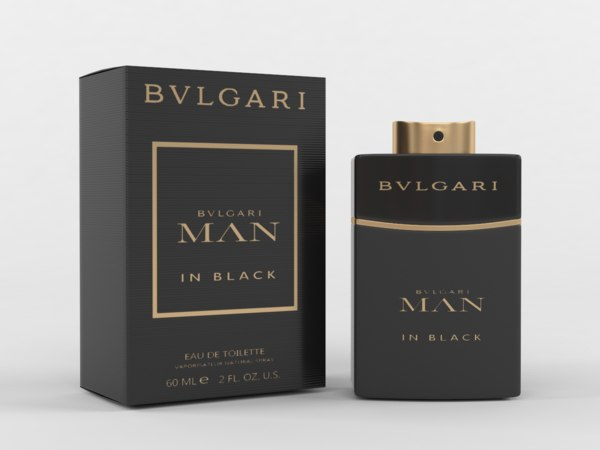 bvlgari man black cologne 3D model