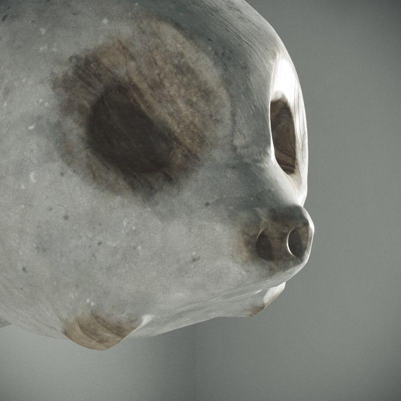 3D stonny statue model