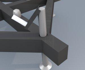 base truss 3D model