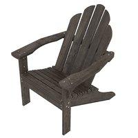 dark wood adirondack chair 3D model