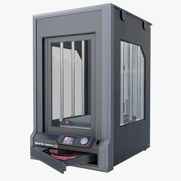 3d model maker bot z18 printer