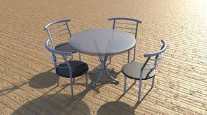 outdoor table chairs 3D model
