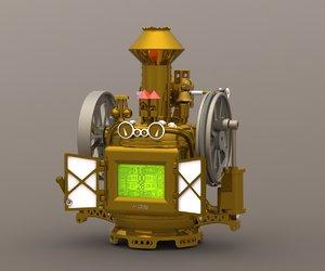 3D steam engine ready case