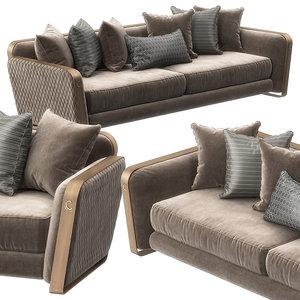 voyage sofa cantori 3D model