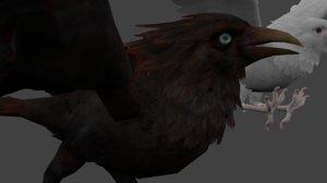 crow bird 3D