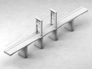 3D ampera bridge model