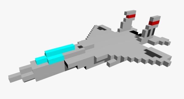 pixelated f15 eagle jet fighter 3D model