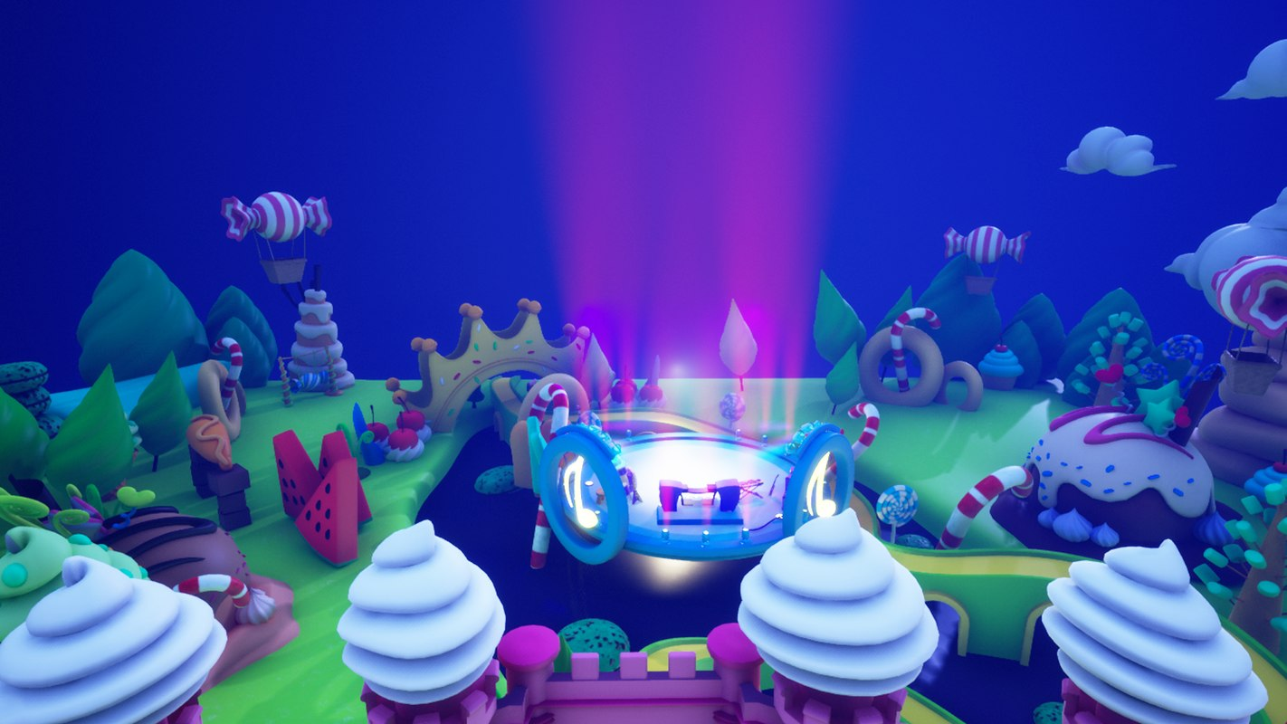 Asset UE4 - Cartoons - Background - Stage- Hight Poly 3D model