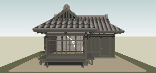 small japanese house 3D