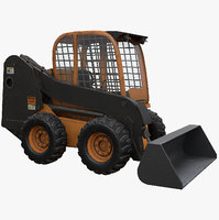 3D model rigged skid steer loader
