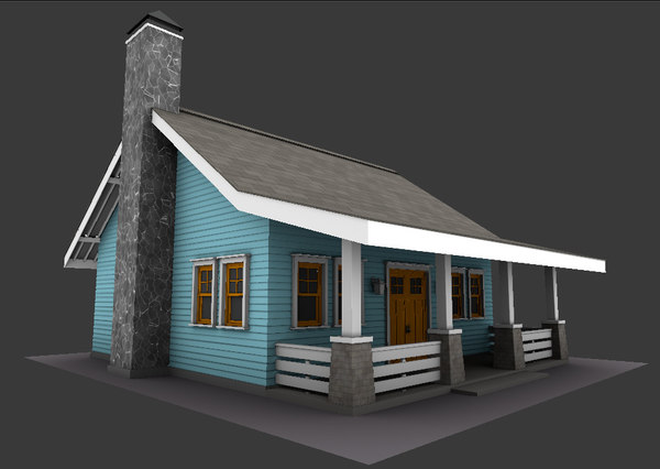 little bungalow 3D model
