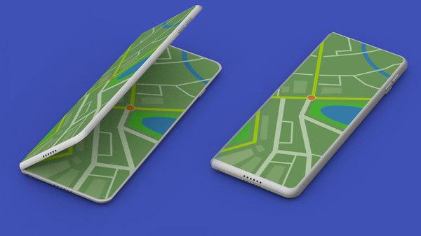 3D fold smartphone model