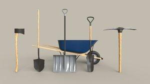 outdoor tools 3D model