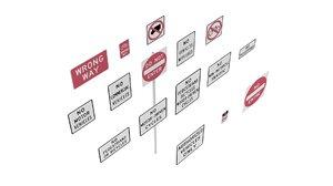 3D road sign series